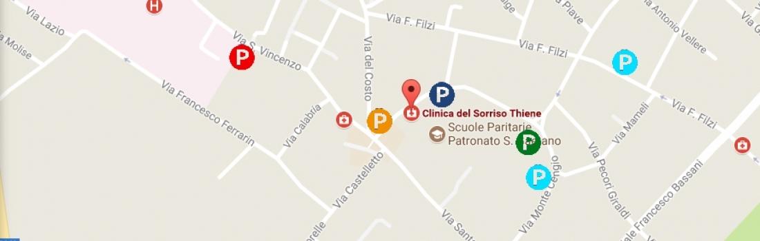Parcheggi a Thiene (VI) vicini alla Clinica del Sorriso
